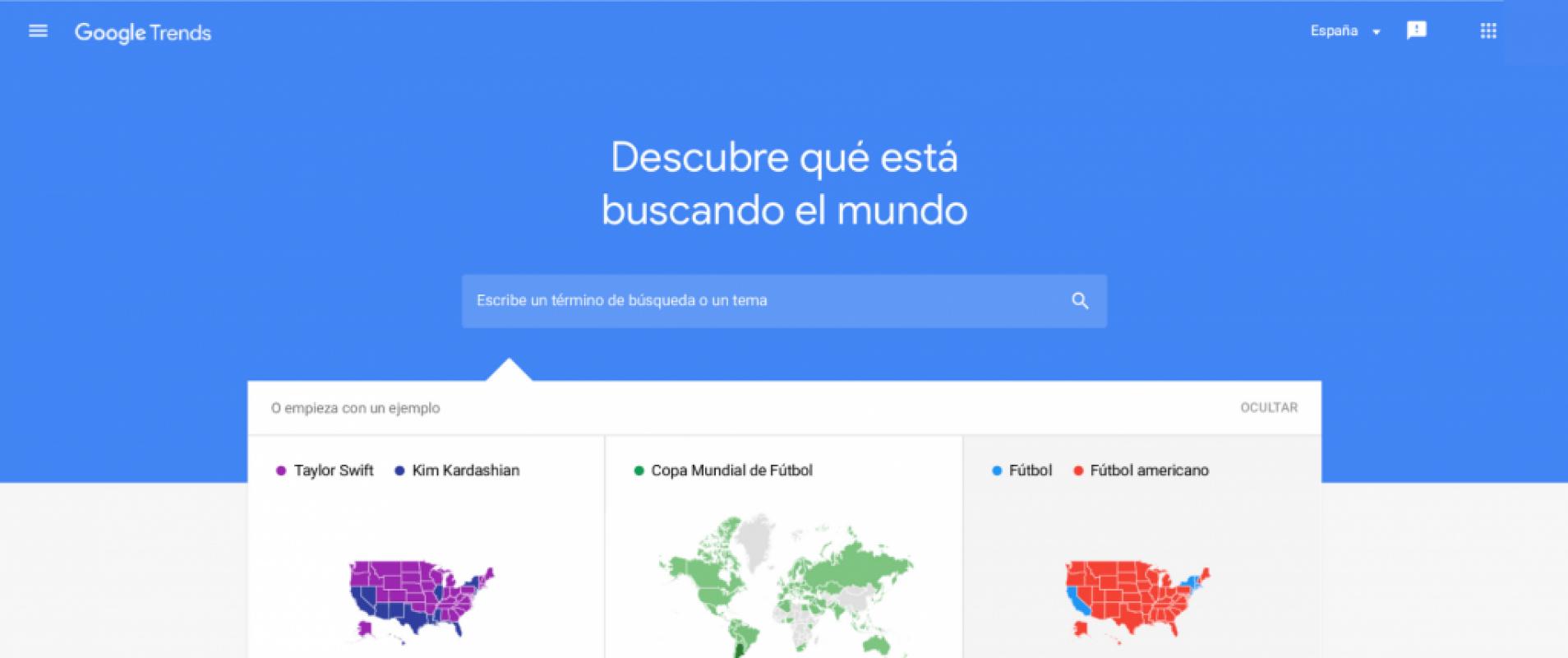 Google Trends, encuentra keywords gratis con Google