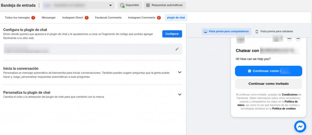 plugin messenger facebook wordpress